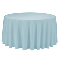 Baby Blue 108 Round Economic Visa Polyester Style Tablecloths Tablecloths