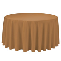Gold 108 Round Economic Visa Polyester Style Tablecloths Tablecloths