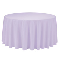 Lavender 108 Round Economic Visa Polyester Style Tablecloths Tablecloths