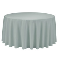 Silver 108 Round Economic Visa Polyester Style Tablecloths Tablecloths