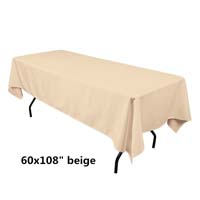 Beige  60X108 Economic Visa Polyester Style Tablecloths Tablecloths