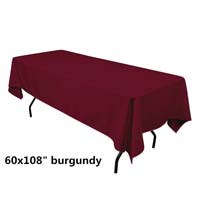 Burgundy  60X108 Economic Visa Polyester Style Tablecloths Tablecloths