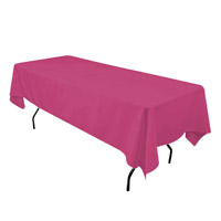 Fuchsia 60X108 Economic Visa Polyester Style Tablecloths Tablecloths