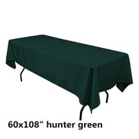 Hunter Green  60X108 Economic Visa Polyester Style Tablecloths Tablecloths