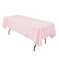 Pink 60X108 Economic Visa Polyester Style Tablecloths Tablecloths