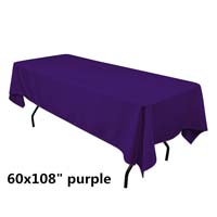 Purple  60X108 Economic Visa Polyester Style Tablecloths Tablecloths