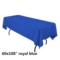 Royal Blue  60X108 Economic Visa Polyester Style Tablecloths Tablecloths