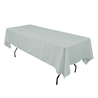 Silver 60X108 Economic Visa Polyester Style Tablecloths Tablecloths