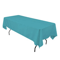 Turquoise 60X108 Economic Visa Polyester Style Tablecloths Tablecloths