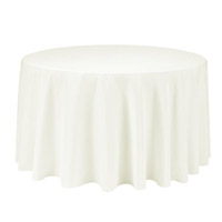 Ivory 90 Round Economic Visa Polyester Style Tablecloths Tablecloths