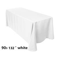 90x132 White Economic Visa Polyester Style Table Drapes Tablecloths