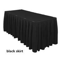 Black Economic Visa Polyester Style Table Skirts Skirting