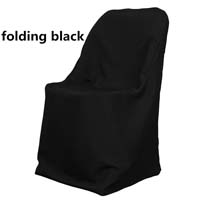 Black Economic Visa Polyester Style Folding Chair Covers Folding Chair Covers