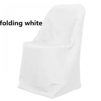 White Economic Visa Polyester Style Folding Chair Covers Folding Chair Covers