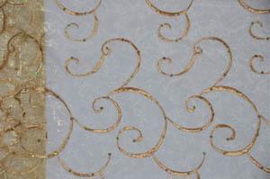 Gold Ferial Organza Embroidery Chiavari Chair Jackets Chiavari Chair Jackets