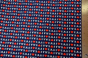 I Love USA Fabric Yards Yards
