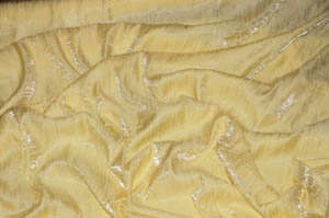 Light Yellow Iridescent Crush Table Drapes Table Drapes