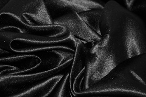 Black L'Amour Satin Table Overlays Overlays