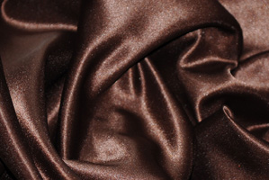 Brown L'Amour Satin Table Overlays Overlays