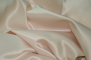 Champagne L'Amour Satin Table Overlays Overlays