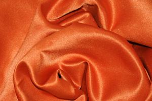 Dark Orange L'Amour Satin Table Overlays Overlays