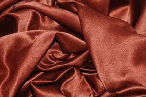 Medium Rust L'Amour Satin Table Overlays Overlays