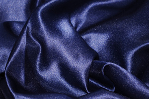 Navy Blue L'Amour Satin Table Overlays Overlays