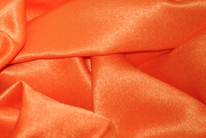 Orange L'Amour Satin Table Overlays Overlays