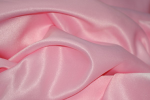 Pink L'Amour Satin Table Overlays Overlays