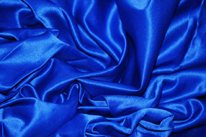 Royal Blue L'Amour Satin Table Overlays Overlays