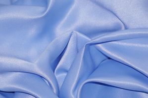 Sky Blue L'Amour Satin Table Overlays Overlays