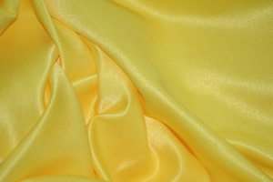 Yellow L'Amour Satin Table Overlays Overlays