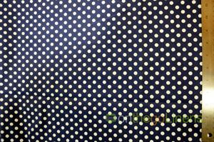 Navy White Polka Dot Cotton Yards Yards
