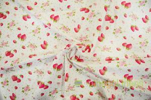Pink Strawberry Flower Cotton Yards Yards