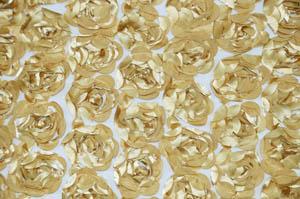 Gold Rosette Satin Bordeaux Table Drapes Table Drapes