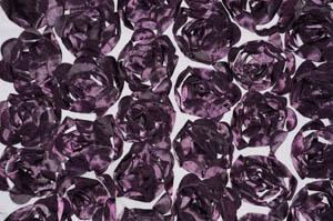 Plum Rosette Satin Bordeaux Tablecloths Tablecloths