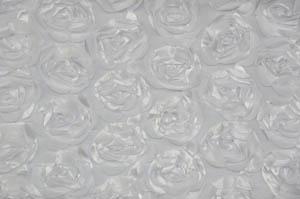 White Rosette Satin Bordeaux Tablecloths Tablecloths