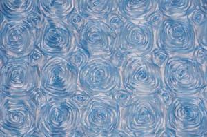 Baby Blue Rosette Satin Tablecloths Tablecloths