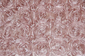 Blush Rosette Satin Tablecloths Tablecloths