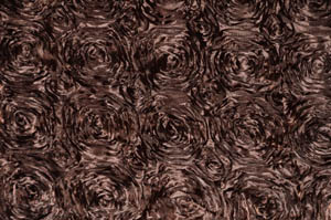 Brown Rosette Satin Tablecloths Tablecloths
