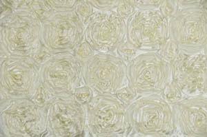 Dark Ivory Rosette Satin Tablecloths Tablecloths
