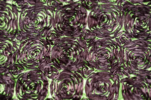 Dark Lime Rosette Satin Tablecloths Tablecloths