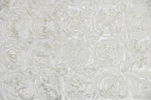 Ivory Rosette Satin Tablecloths Tablecloths