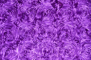 Light Purple Rosette Satin Tablecloths Tablecloths