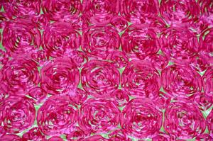 Lime Fuchsia Rosette Satin Tablecloths Tablecloths