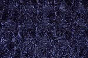 Navy Blue Rosette Satin Tablecloths Tablecloths