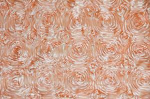 Peach Rosette Satin Table Drapes Table Drapes