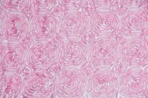 Pink Rosette Satin Tablecloths Tablecloths