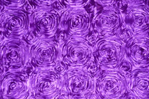 Purple Rosette Satin Tablecloths Tablecloths