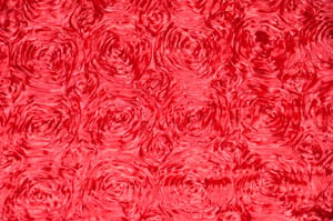 Red Rosette Satin Tablecloths Tablecloths